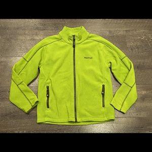 Marmot Kid's Green Fleece Jacket Size L
